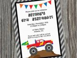 Monster Truck Birthday Invitations Free Printable Custom Printable Monster Truck Birthday Party Invitation