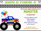 Monster Truck Birthday Invitations Free Printable Free Printable Monster Truck Birthday Invitations Drevio