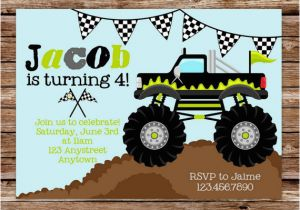 Monster Truck Birthday Invitations Free Printable Free Printable Monster Truck Birthday Invitations Free