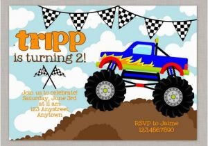 Monster Truck Birthday Invitations Free Printable Monster Truck Invitation Monster Truck Birthday Monster