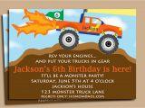 Monster Truck Birthday Invitations Free Printable Monster Truck Invitation Printable or Printed by