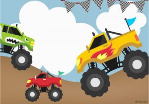 Monster Truck Birthday Invitations Free Printable Monster Trucks Invitation Templates Free Printable