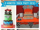 Monster Truck Birthday Party Decorations Monster Truck 4th Birthday Party Spaceships and Laser Beams