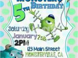 Monsters Inc Birthday Invitations Template 5 X 7 Printable Monsters University Birthday Invitation