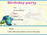 Monsters Inc Birthday Invitations Template Best Photos Of Monster Inc Printable Templates Halloween