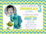 Monsters Inc Birthday Invitations Template Customized Birthday Invitation Monsters Inc Monsters