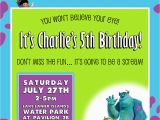 Monsters Inc Birthday Invitations Template Monsters Inc Birthday Invitation Design by Kariannkelly