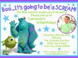 Monsters Inc Birthday Invitations Template Monsters Inc Birthday Invitations Ideas Bagvania Free