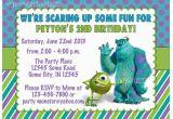 Monsters Inc Birthday Invites Monsters Inc Birthday Invitation Custom Digital File