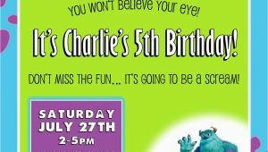 Monsters Inc Birthday Invites Monsters Inc Birthday Invitation Design by Kariannkelly