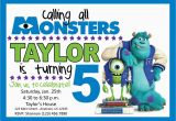 Monsters Inc Birthday Invites Monsters Inc Birthday Party Invitation by Lifeonpurpose On