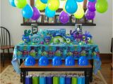 Monsters Inc Birthday Party Decorations Monster Inc Birthday Party Table Balloons No Helium