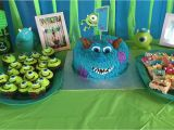 Monsters Inc Birthday Party Decorations Monsters Inc themed 1st Birthday Party Diy Party