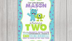 Monsters Inc Birthday Party Invitations Monsters Inc Inspired Birthday Invitation by