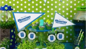Monsters University Birthday Decorations Monsters Inc Movie theme Party Ideas Photo 1 Of 13