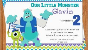 Monsters University Birthday Invitations Monsters University Invitation Kids Birthday Printable