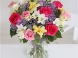 Moonpig Birthday Flowers Rose and Freesia Bouquet 30 6 X White Freesia 3 X