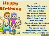 Mother Birthday Card Poems Birthday Poems for Mother In Law Wishesmessages Com