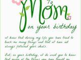 Mother Birthday Card Poems Happy Birthday Mom Birthday Wishes for Mom Funny Cards