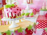 Motif for 1st Birthday Girl Kara 39 S Party Ideas Strawberry Shortcake themed First