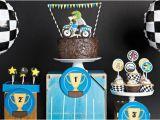 Motocross Birthday Party Decorations Boy Bash Dirt Bike Birthday Dessert Table Spaceships