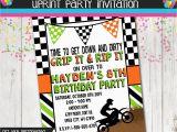 Motocross Birthday Party Invitations Boy Dirt Bike Birthday Party Invitation Dirtbike Printable