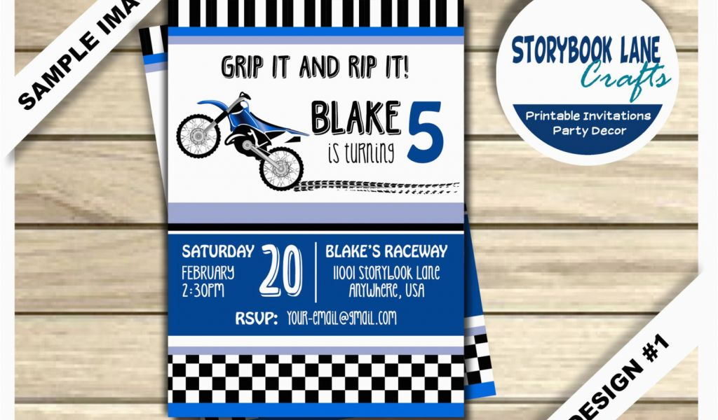 Download By SizeHandphone Tablet Desktop Original Size Back To Motocross Birthday Party Invitations