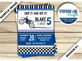 Motocross Birthday Party Invitations Dirt Bike Birthday Invitation Motocross Birthday Invitation