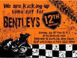 Motocross Birthday Party Invitations Dirtbike Motocross Birthday Party Invites by