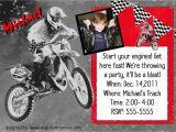 Motocross Birthday Party Invitations Motocross Birthday Party Invitation Card Personalized