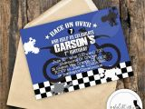 Motocross Birthday Party Invitations Motocross Birthday Party Invitation Supercross Dirt Bike