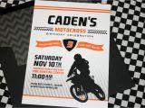 Motocross Birthday Party Invitations Motocross Birthday Party Invitations Diy
