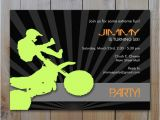 Motocross Birthday Party Invitations Motocross Dirtbike Birthday Invitation by