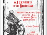 Motocross Birthday Party Invitations Motocross Grunge Invitation Motorcycle Birthday Invitation