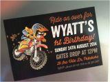 Motocross Birthday Party Invitations Motocross Invitation Diy Printable 6×4 Quot for Birthday Party
