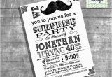 Moustache Birthday Invitations Mustache Bash Birthday Invitation Surprise Party Adult Invite