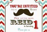 Moustache Birthday Invitations Mustache Birthday Party Invitations Cimvitation