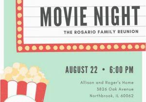 Movie Night Birthday Invitations Free Printable Customize 646 Movie Night Invitation Templates Online Canva