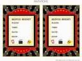 Movie Night Birthday Invitations Free Printable Free Movie Night Party Printables by Printabelle Catch
