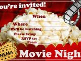 Movie Night Birthday Invitations Free Printable Invitations for Sleepover Party
