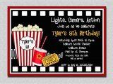 Movie Night Birthday Invitations Free Printable Movie Birthday Invitation Movie Night Birthday Party