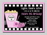 Movie Night Birthday Invitations Free Printable Movie Birthday Invitations Pink Movie Night Birthday Party