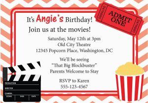 Movie Night Birthday Invitations Free Printable Movie Invitation Printable Google Search Drive In
