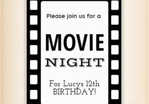 Movie Night Birthday Invitations Free Printable Movie Night Invitation Template Free Greetings island