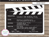 Movie Night Birthday Invitations Free Printable Movie Night Party Invitations Template Birthday Party