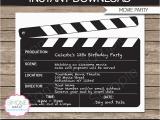 Movie Night Birthday Invitations Free Printable Movie Night Party Invitations Template Birthday Party