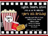 Movie Night Birthday Invitations Free Printable Printable Birthday Invitations Movie Party Movie