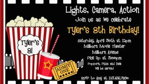 Movie Night Birthday Invitations Free Printable Printable Birthday Invitations Movie Party Movie