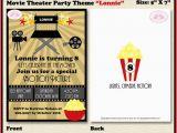 Movie theater Birthday Invitations Movie theater Birthday Party Invitation Cinema Ticket 1st 6th