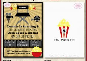 Movie theater Birthday Invitations Movie theater Birthday Party Invitation Cinema Ticket 1st 6th